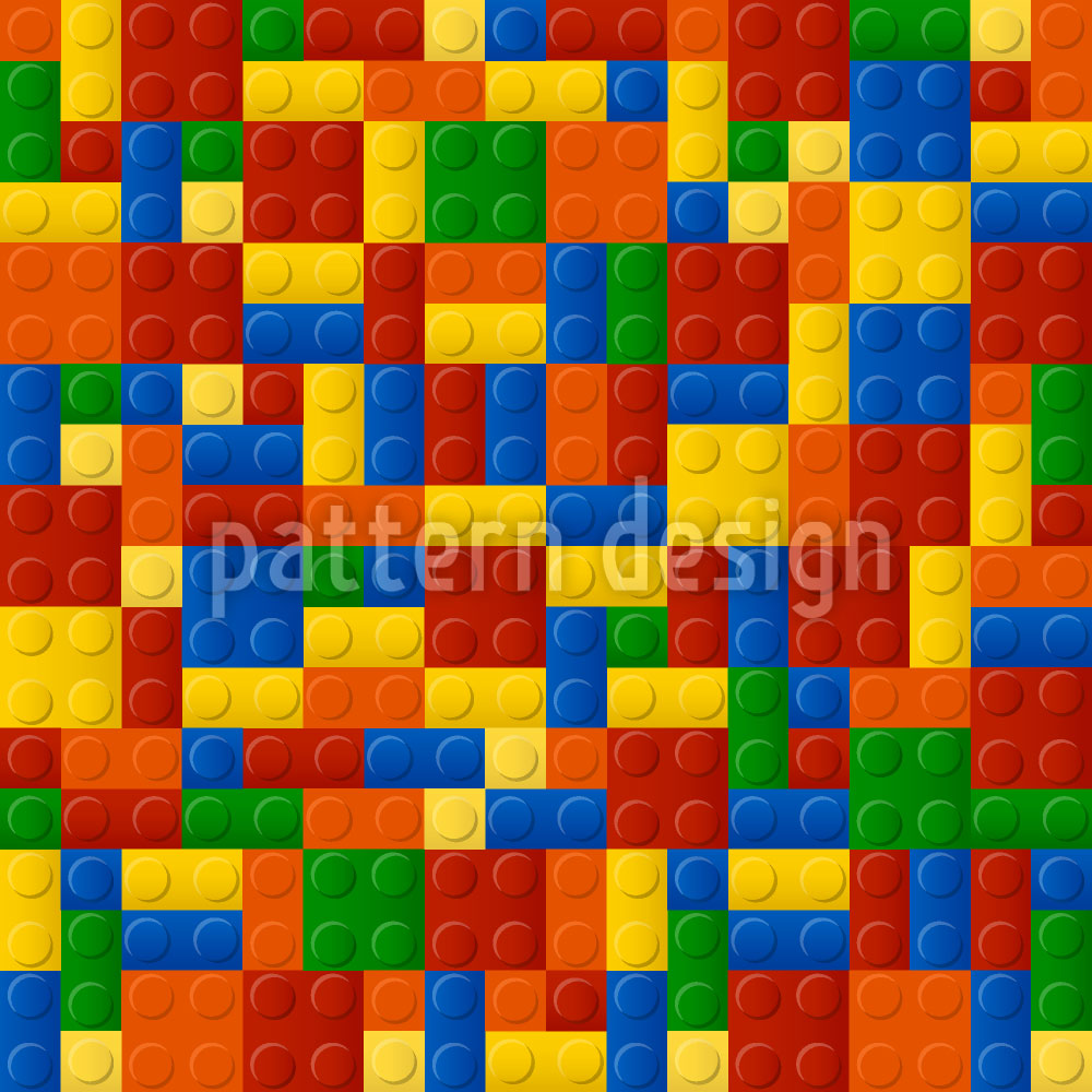 Designtapete Plastik Bausteine