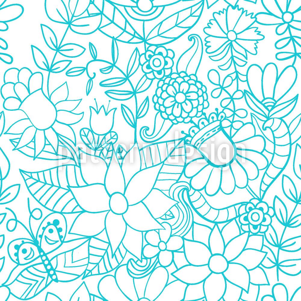 Designtapete Im Garten Der Schneekönigin