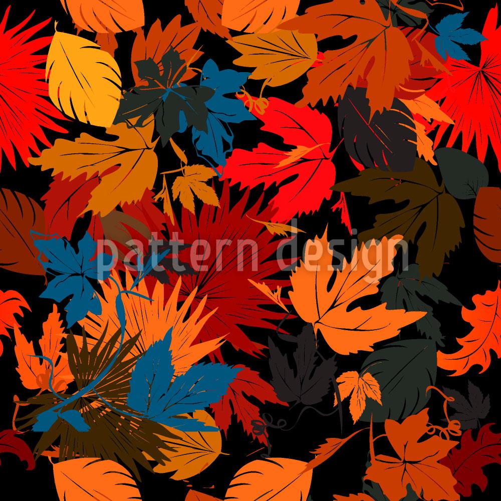 Designtapete Blätter Im Beet