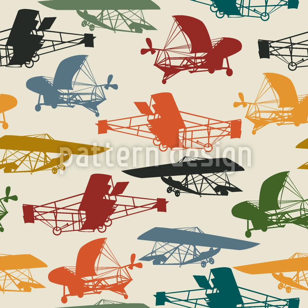 Designtapete Historische Flieger