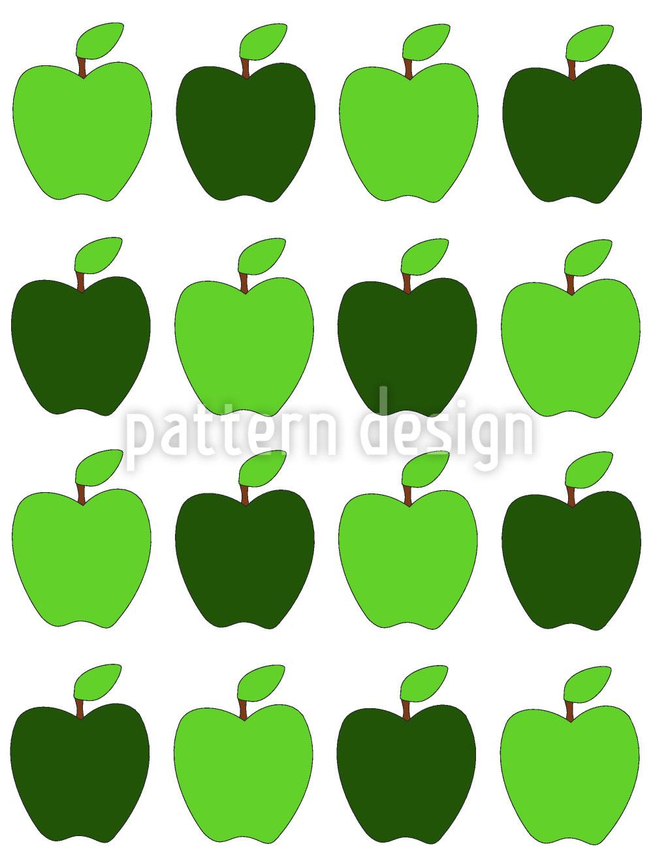 Designtapete Granny Smiths Äpfel