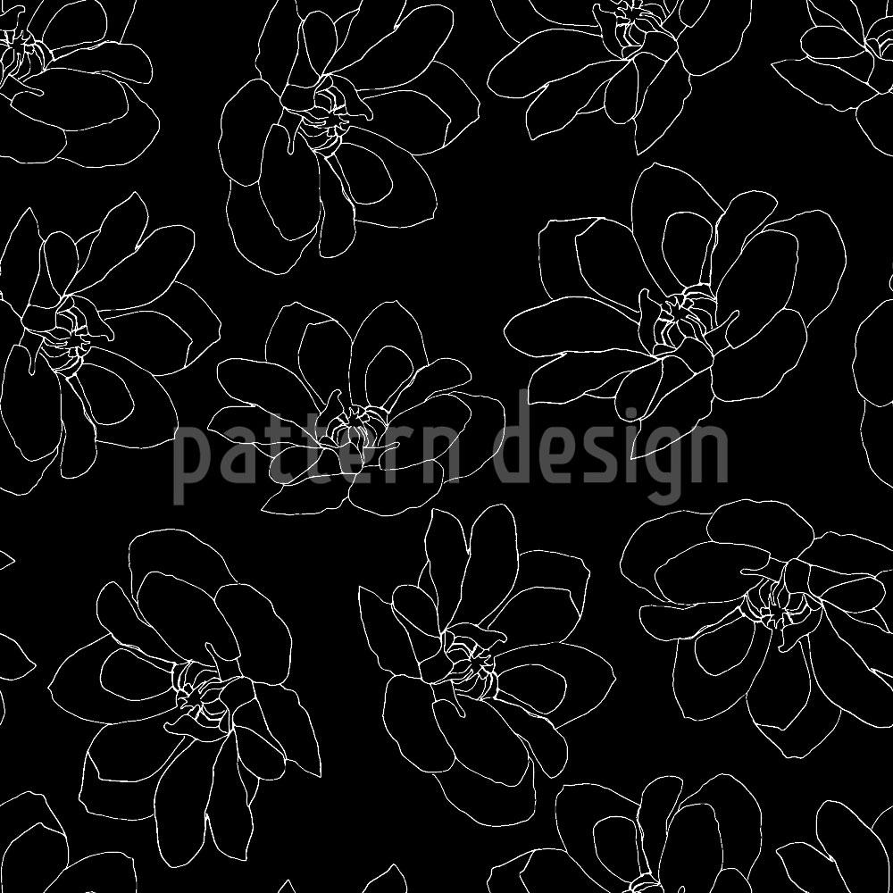 Designtapete Tanzende Blumen