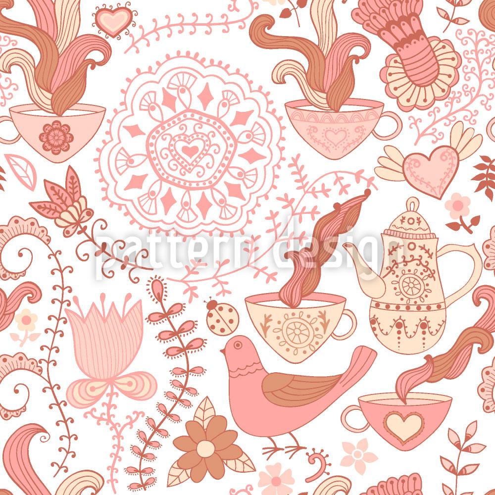 Designtapete Russische Teeparty
