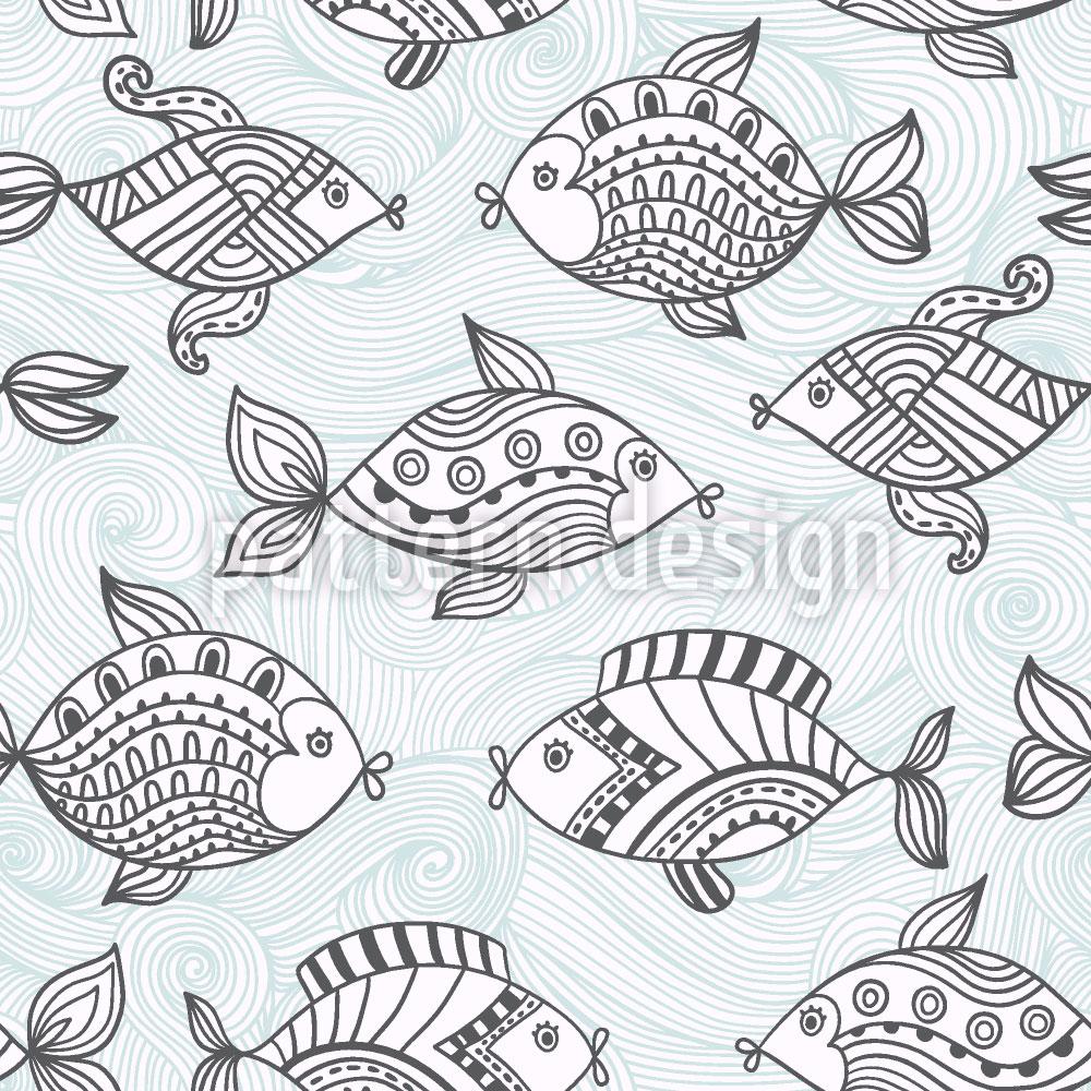 Designtapete Fischteich