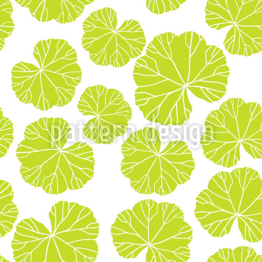 Designtapete Frauenmantel Blätter