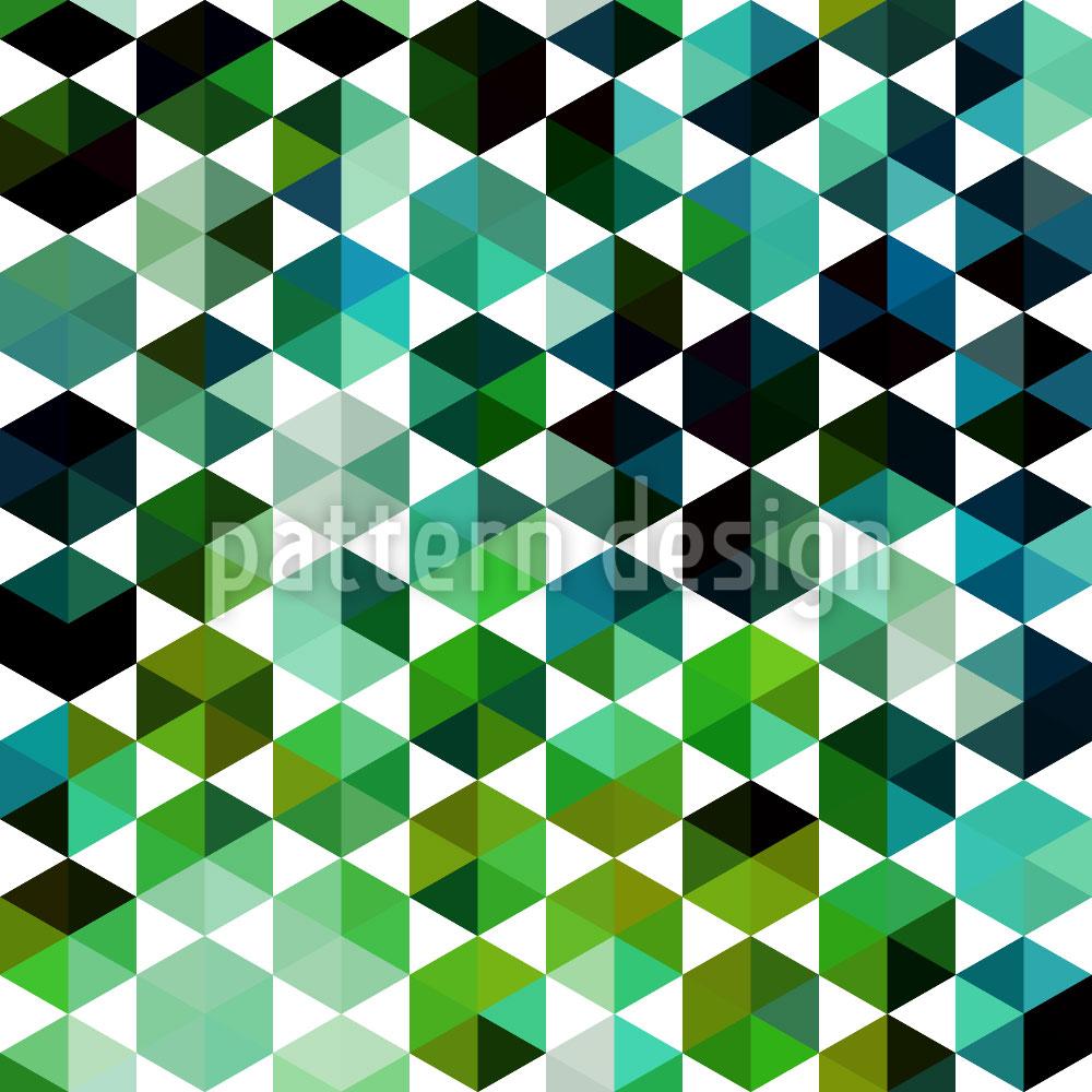 Designtapete Smaragd Sexagon