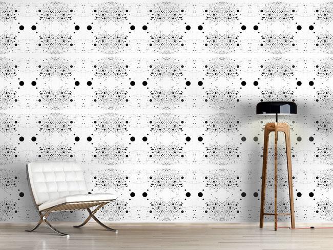 Designtapete Symmetrie Im Punktechaos