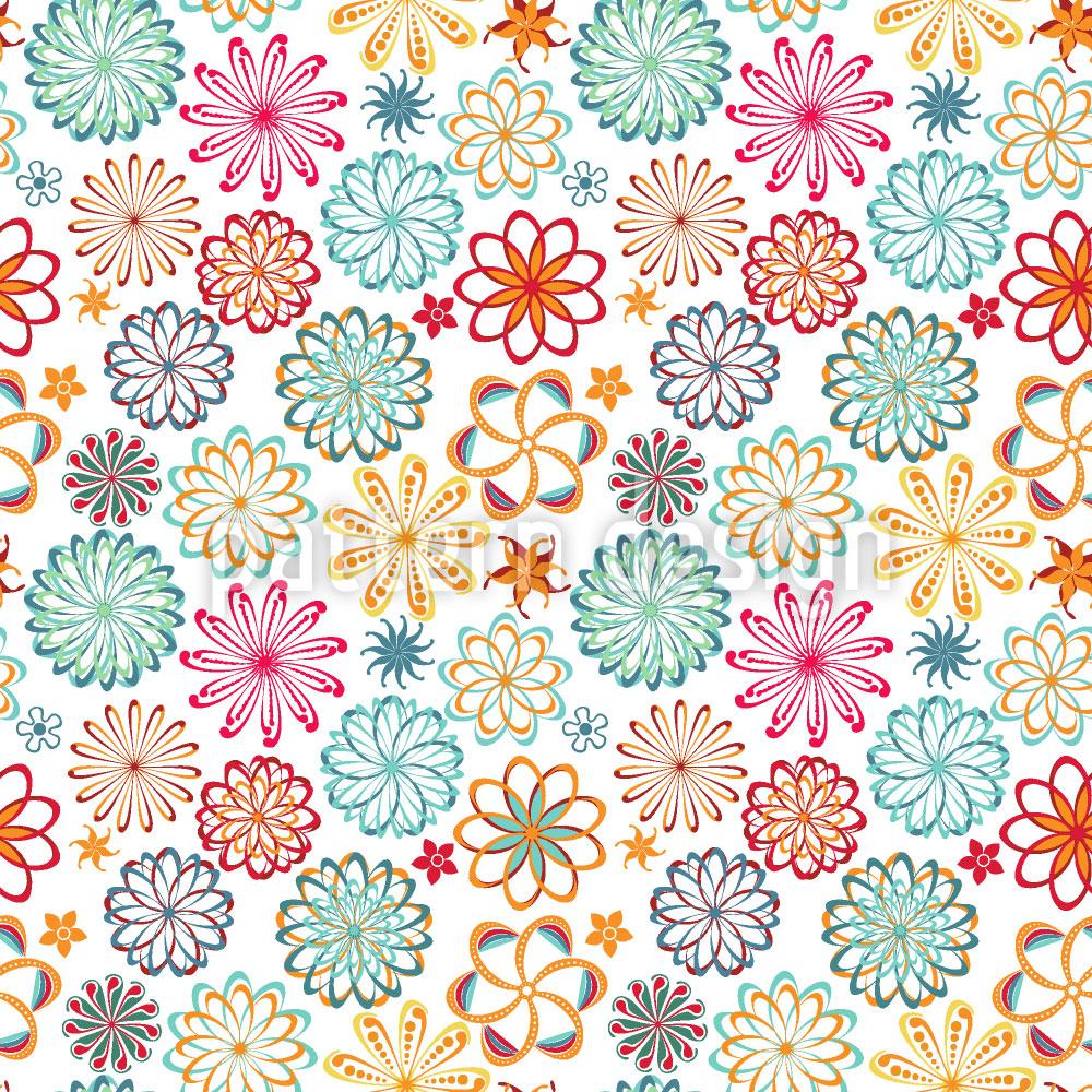 Designtapete Mandala Floral