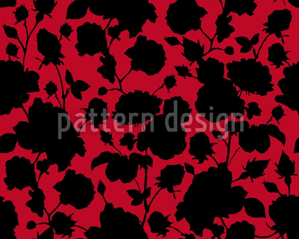 Designtapete Die Schwarzen Rosen In Scarlets Garten