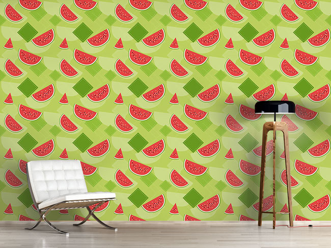 Designtapete Frische Wassermelonen