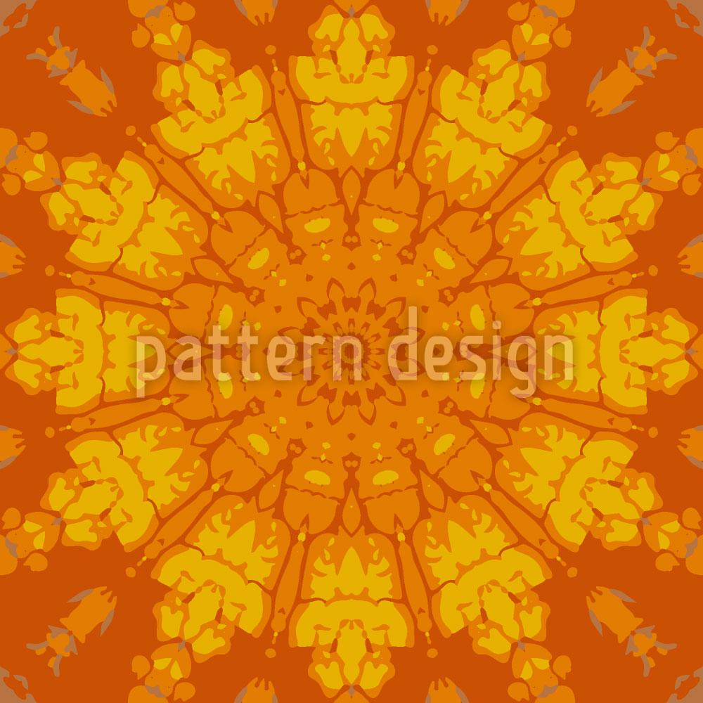 Designtapete Gotisches Sonnenrad