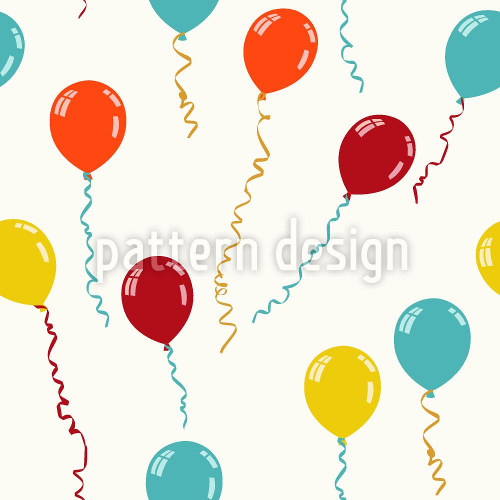 Designtapete Luftballon Flieg Fort