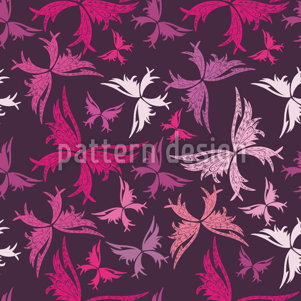 Designtapete Polynesische Schmetterlinge