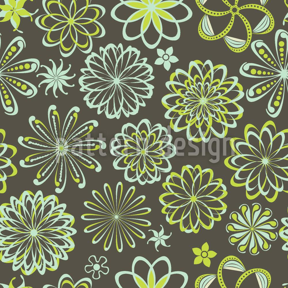 Designtapete Blumen Der Naturwissenschaften
