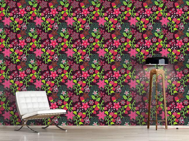 Designtapete In Mamis Erdbeer Paradies