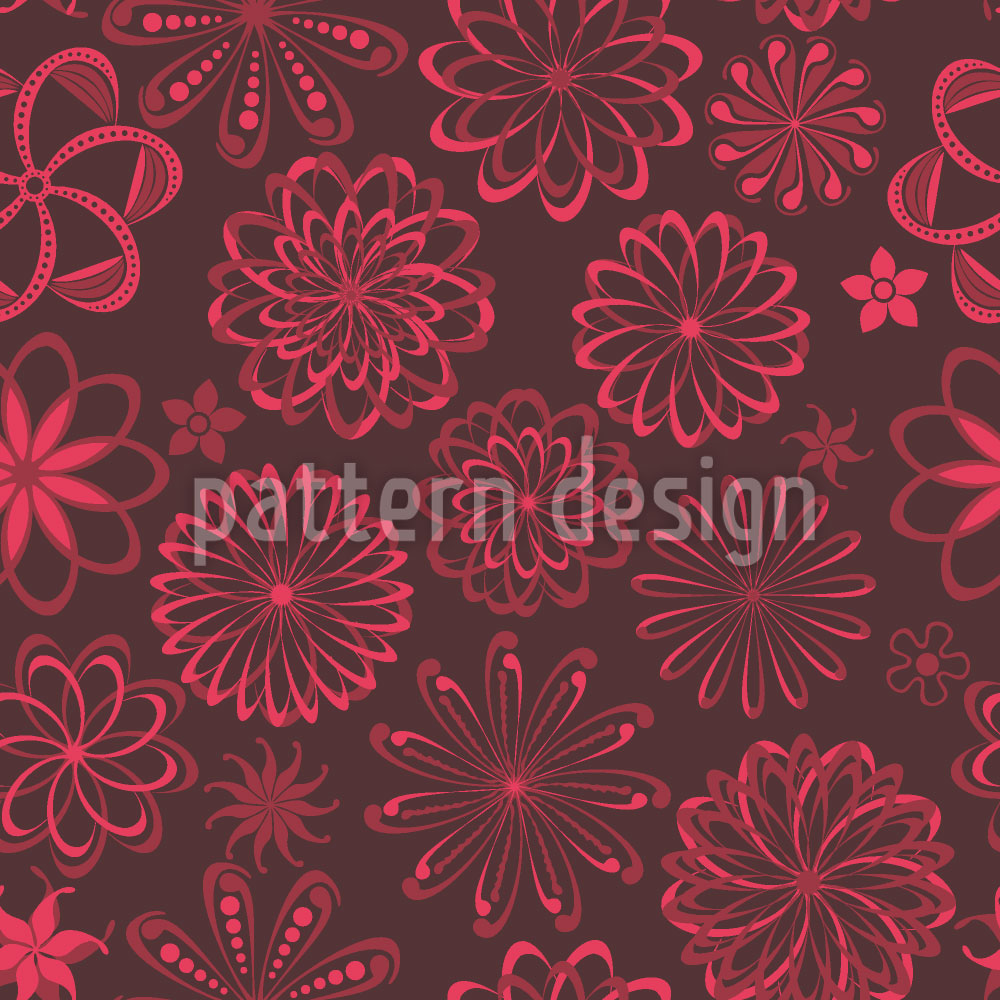 Designtapete Blumen Liebesserum
