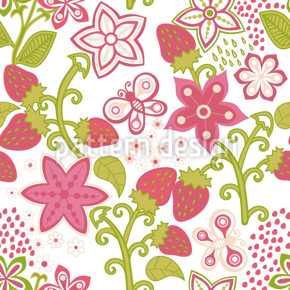 Designtapete Erdbeer Paradies