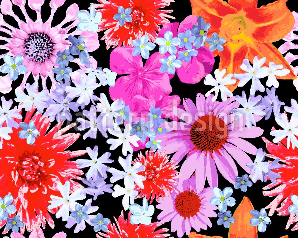 Designtapete Sommerblumen