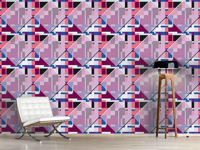 Designtapete Glasfenster Trifft Bauhaus