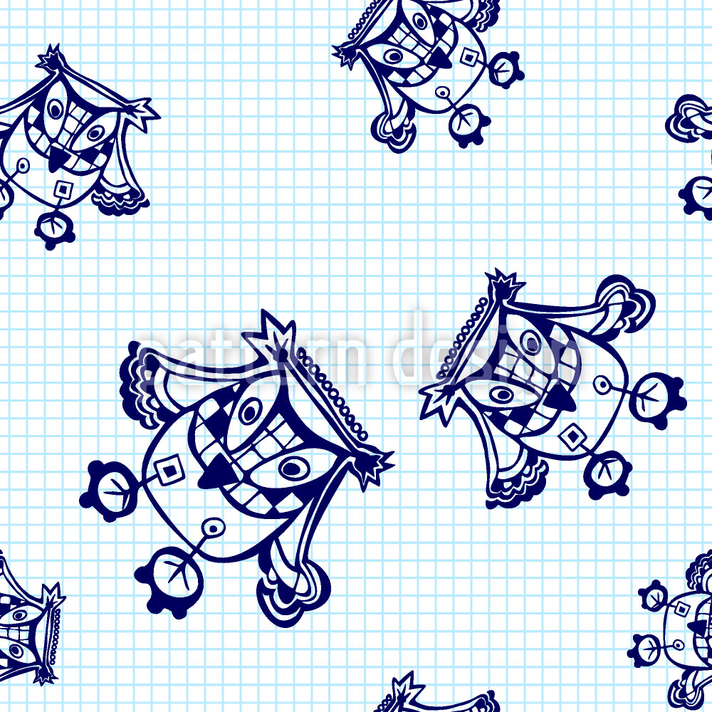 Designtapete Eulen Fliegen Über Das Mathe Heft