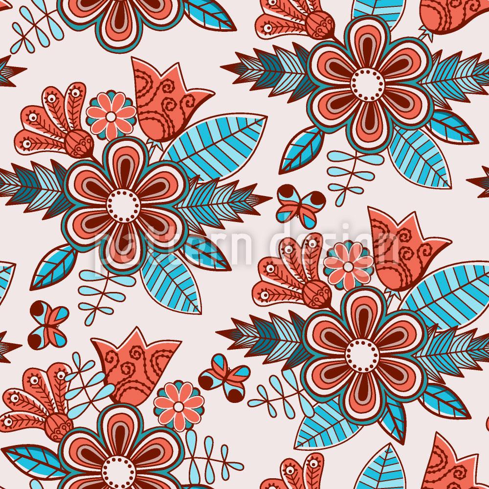Designtapete Spätsommer Blumen
