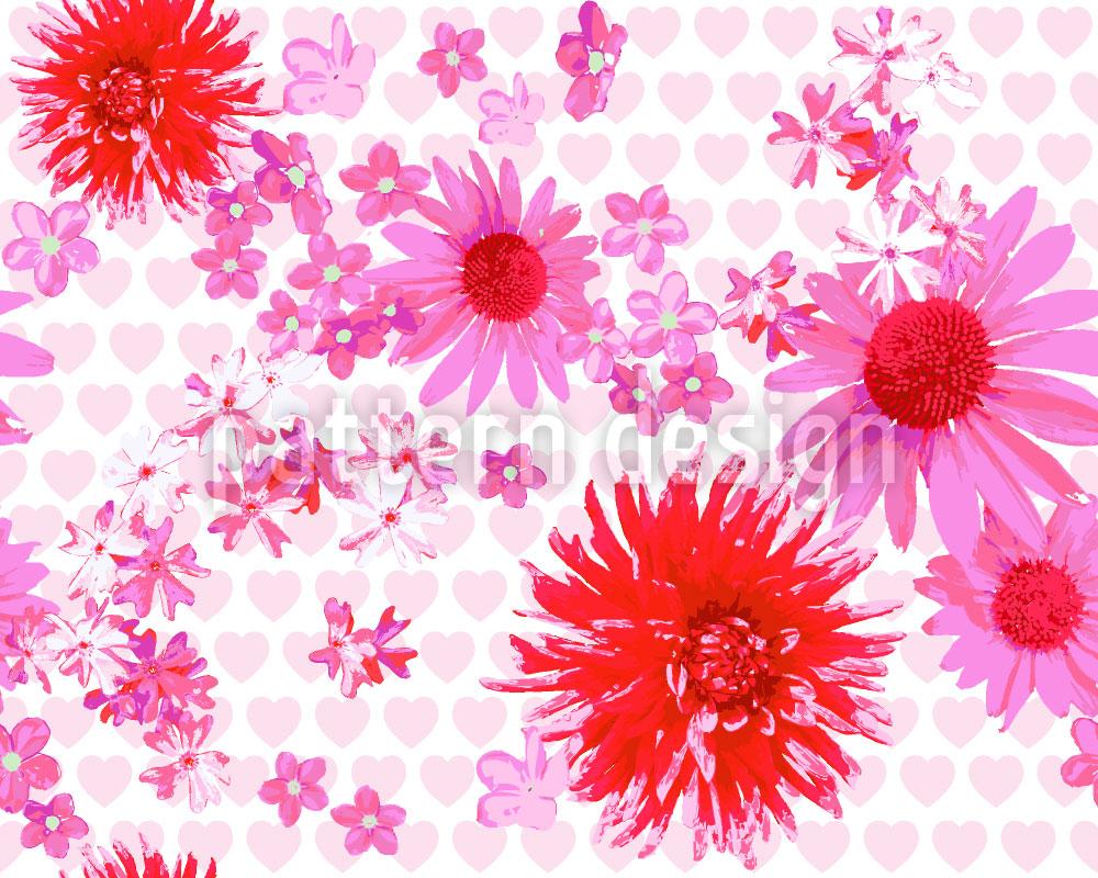 Designtapete Herziger Blütenrausch