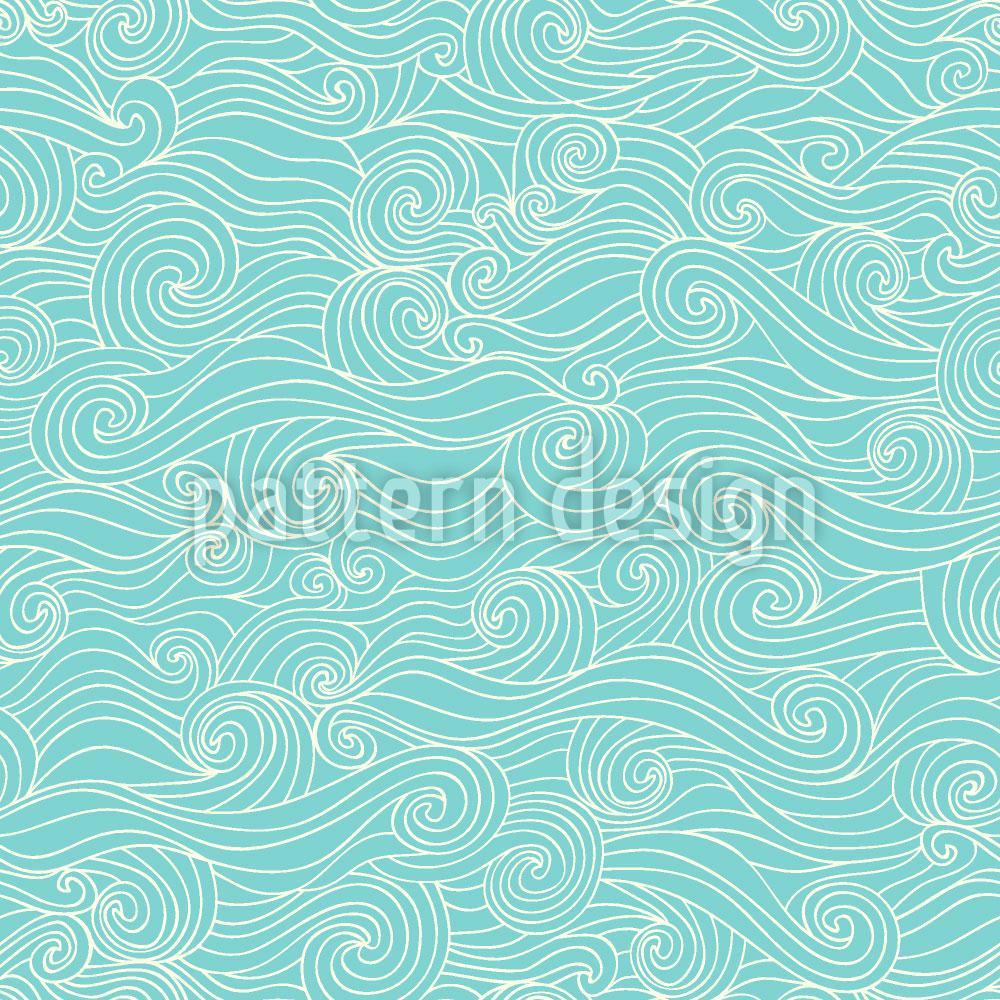 Designtapete Wellenspiel In Der Lagune