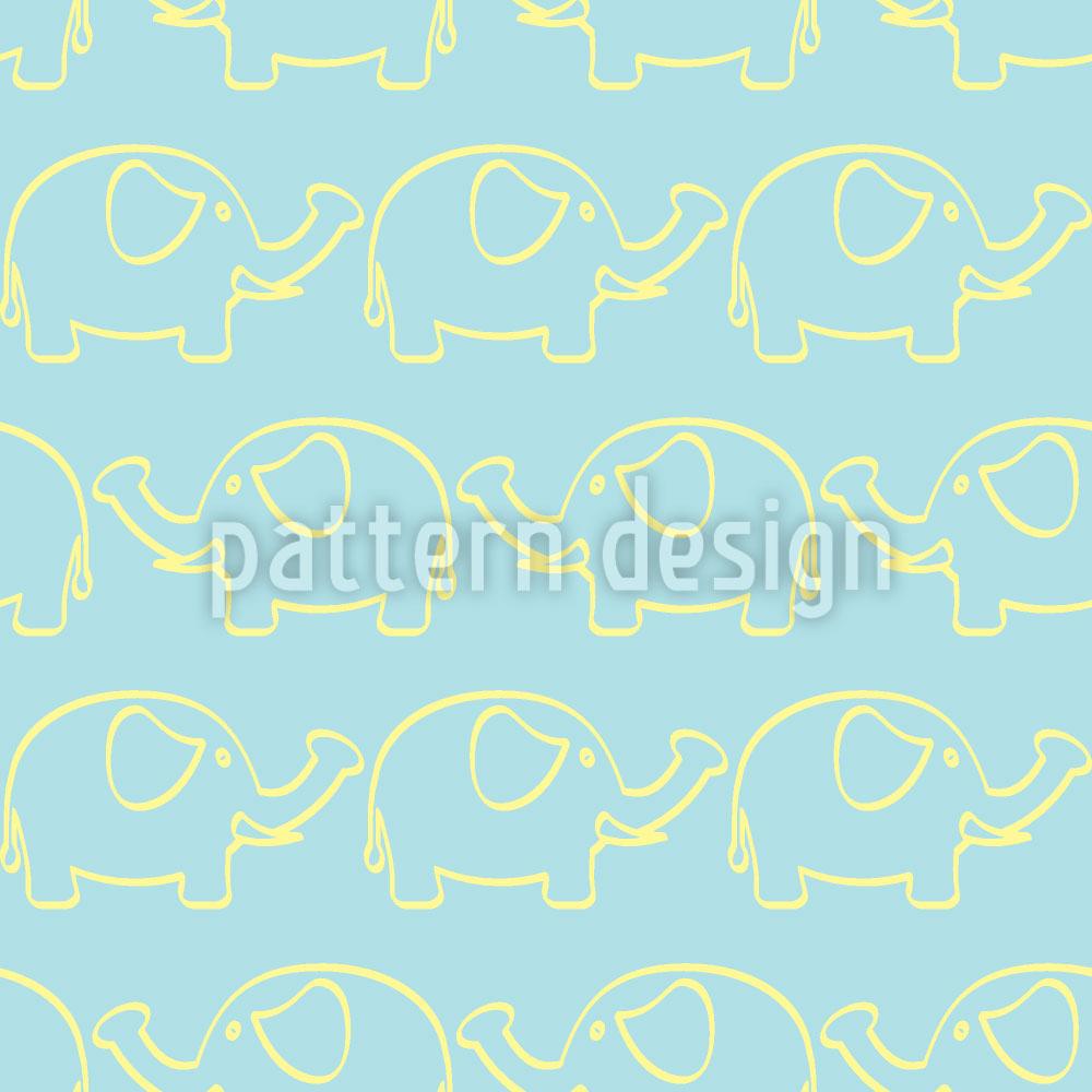 Designtapete Elefanten Marsch
