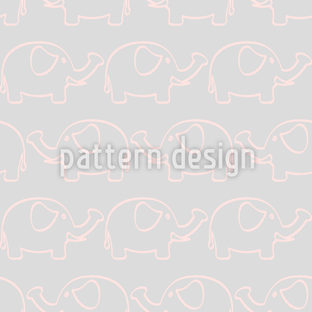 Designtapete Baby Elefanten Marsch