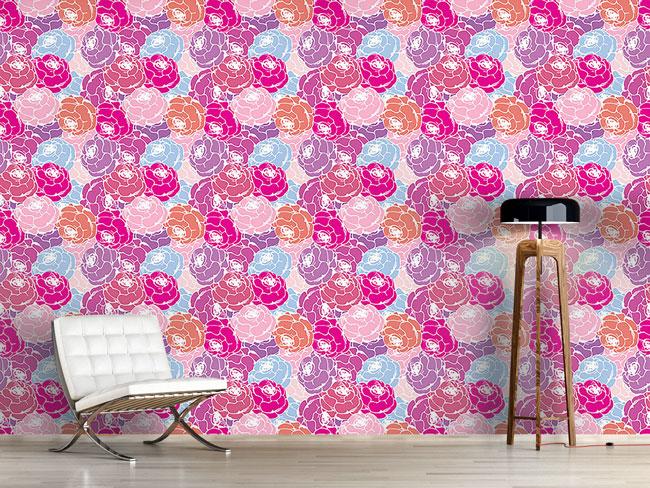Designtapete Rosen Bouquet