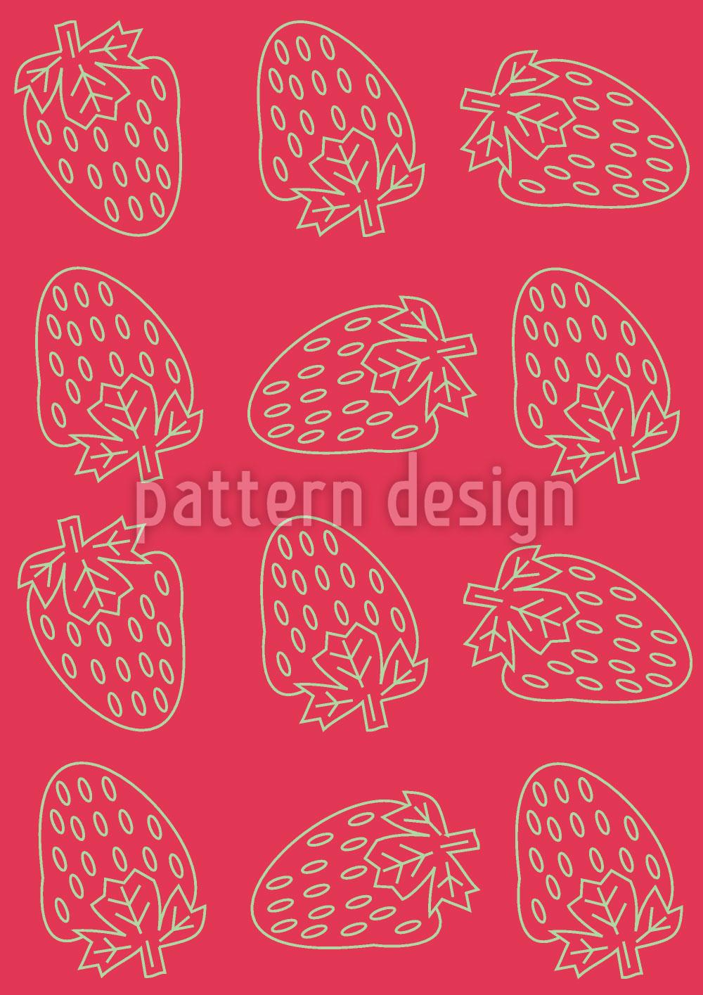 Designtapete Erdbeer Style