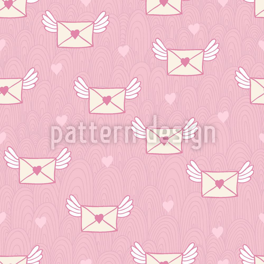 Designtapete Ach Du Liebesbriefchen