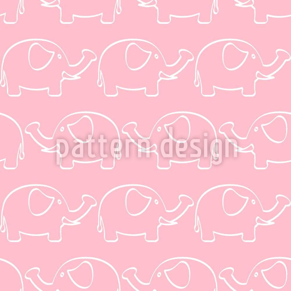 Designtapete Baby Elefanten Parade