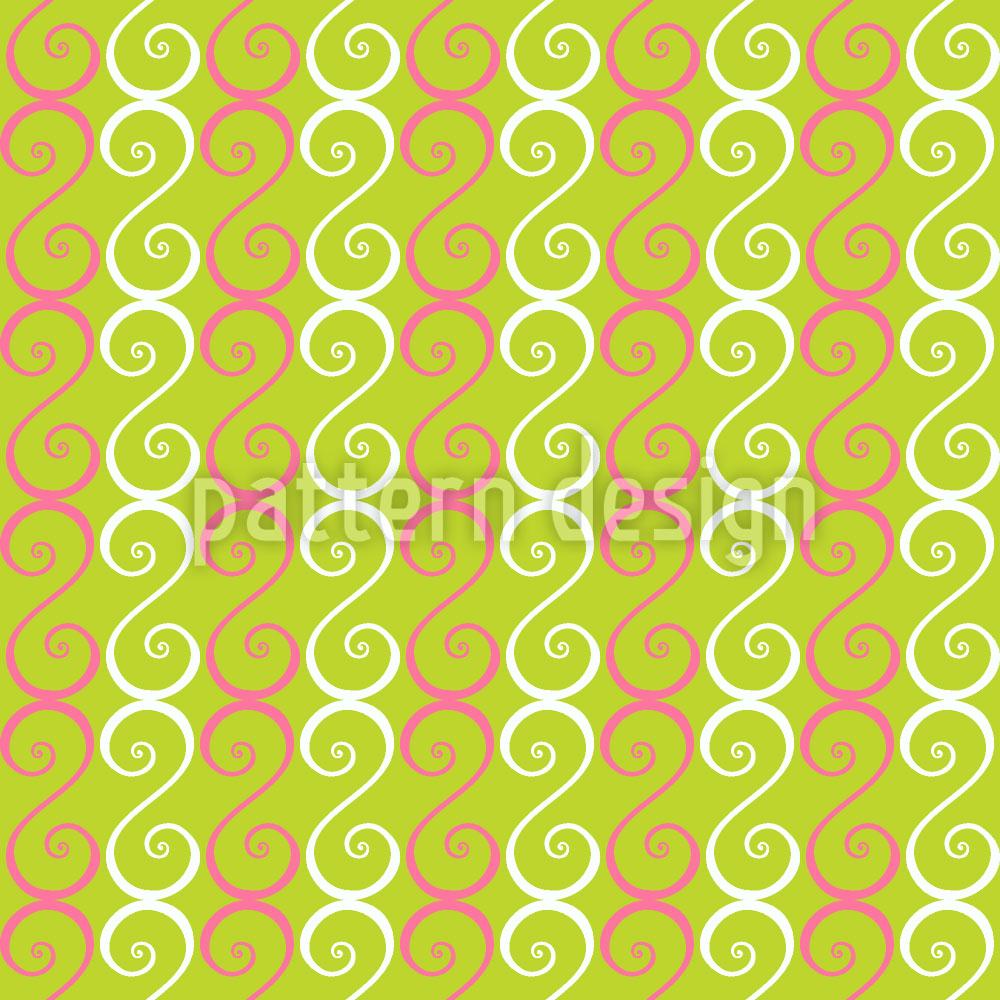 Designtapete Verzierte Streifen
