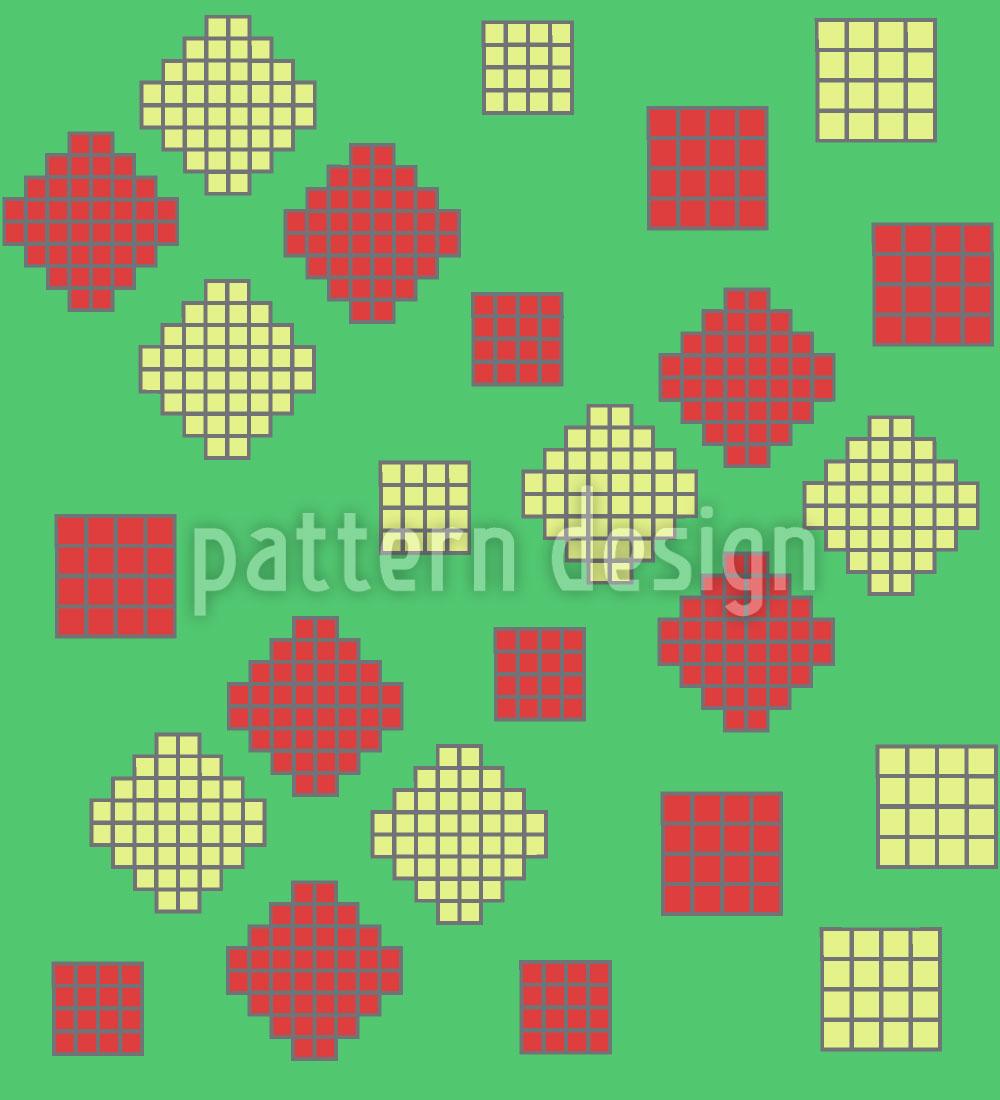 Designtapete Mosaik Geometrie