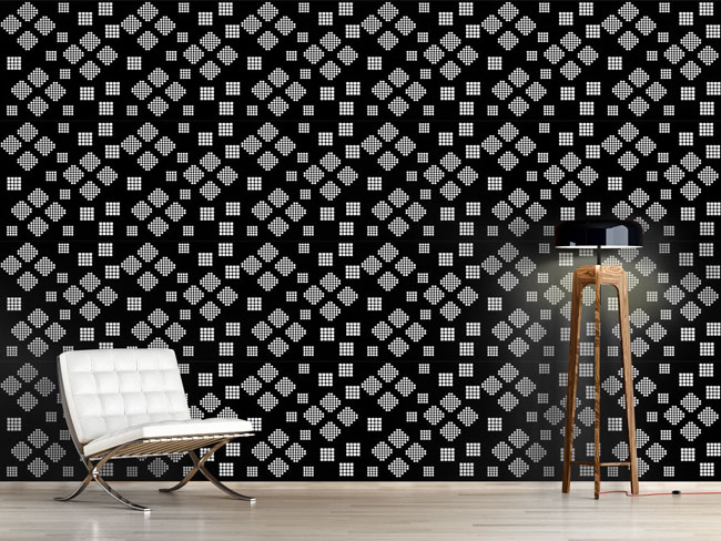 Designtapete Mosaik Geometrie Bei Nacht