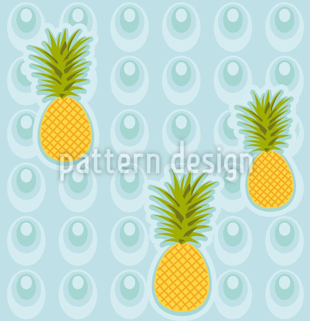 Designtapete Ananas Im Whirlpool