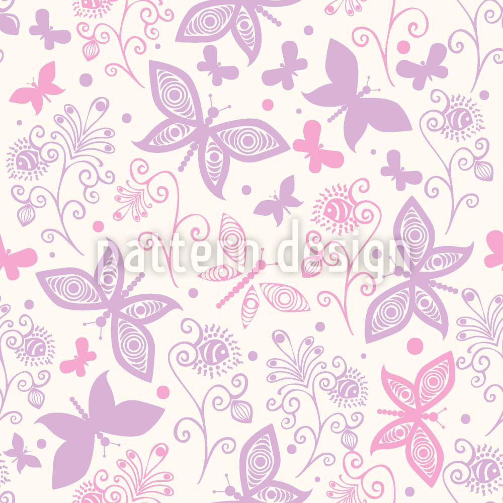 Designtapete Schmetterling Romanze