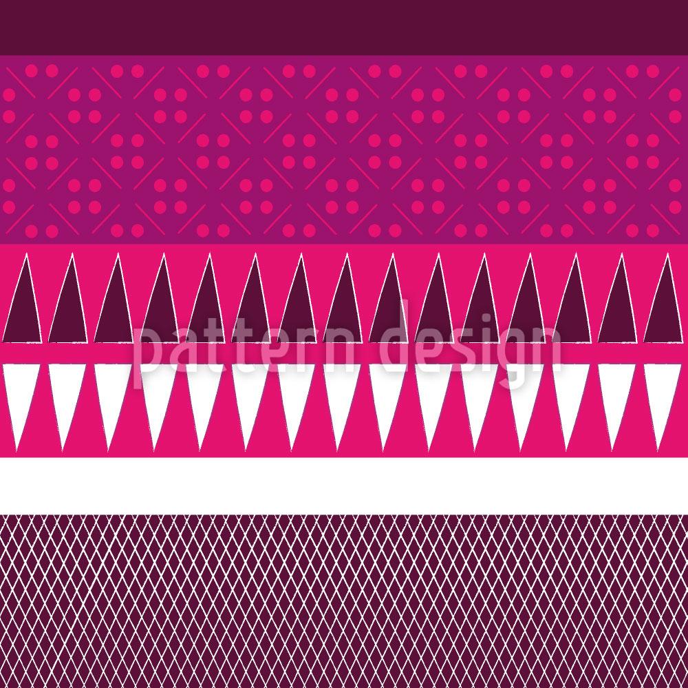 Designtapete Ethno Patchwork Mix