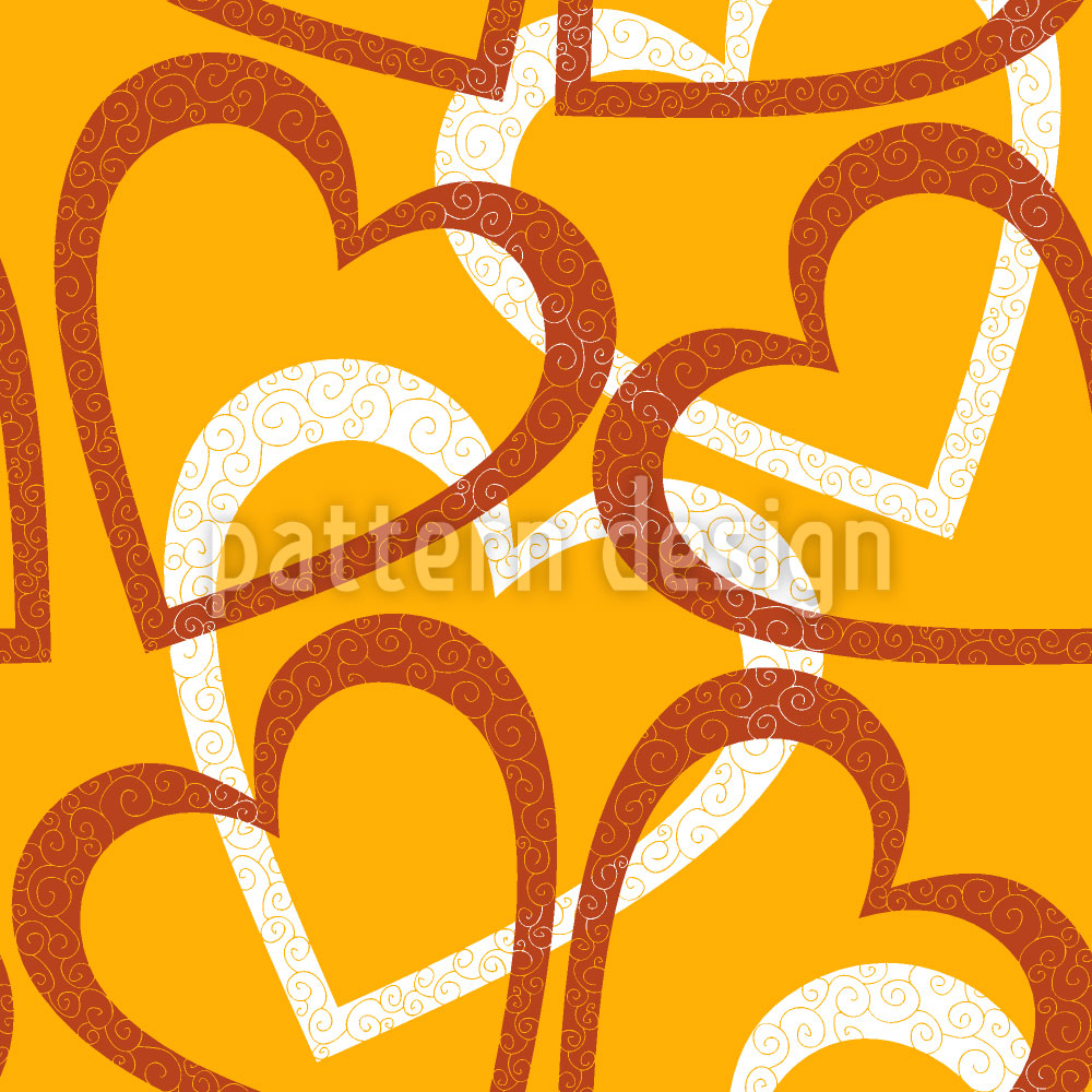 Designtapete Love Love Love Allover
