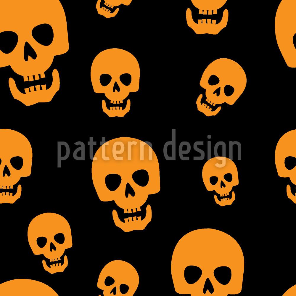 Designtapete Totenkopf Vision