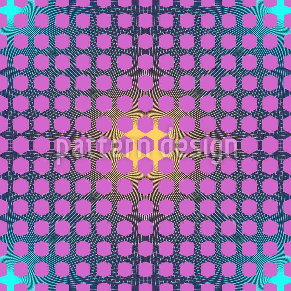 Designtapete Auferstehung Im Hexagon