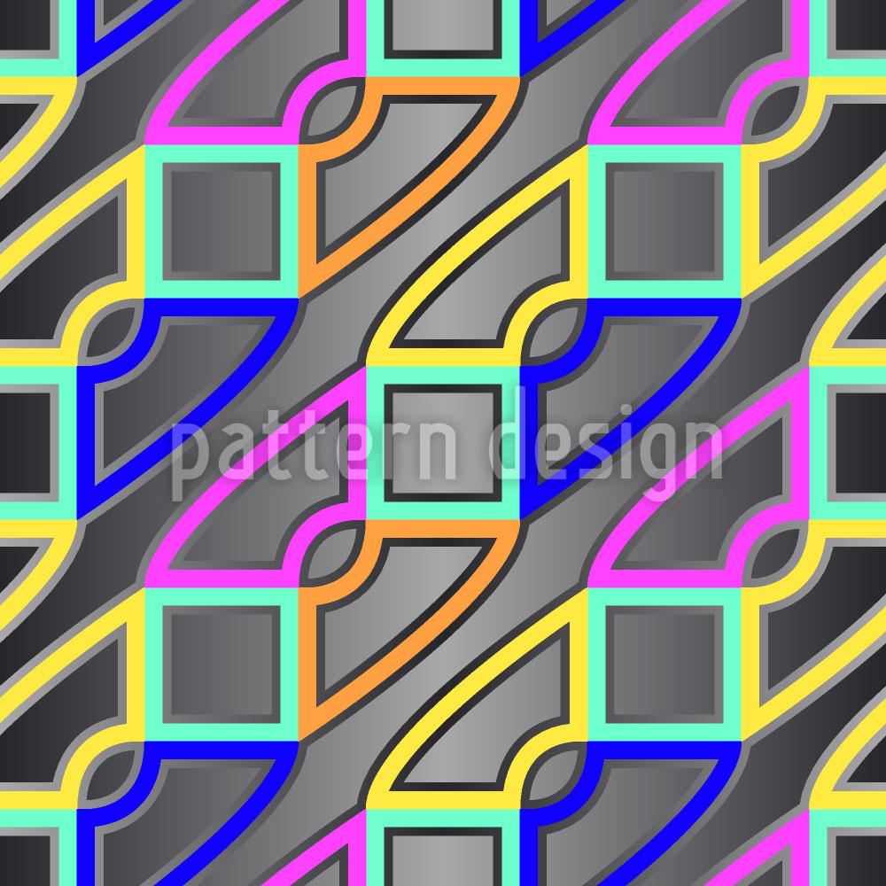 Designtapete Verkettung Geometrischer Umstände