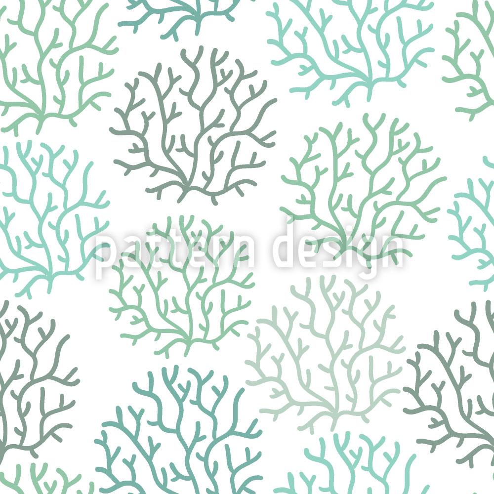 Designtapete Korallen Frühling
