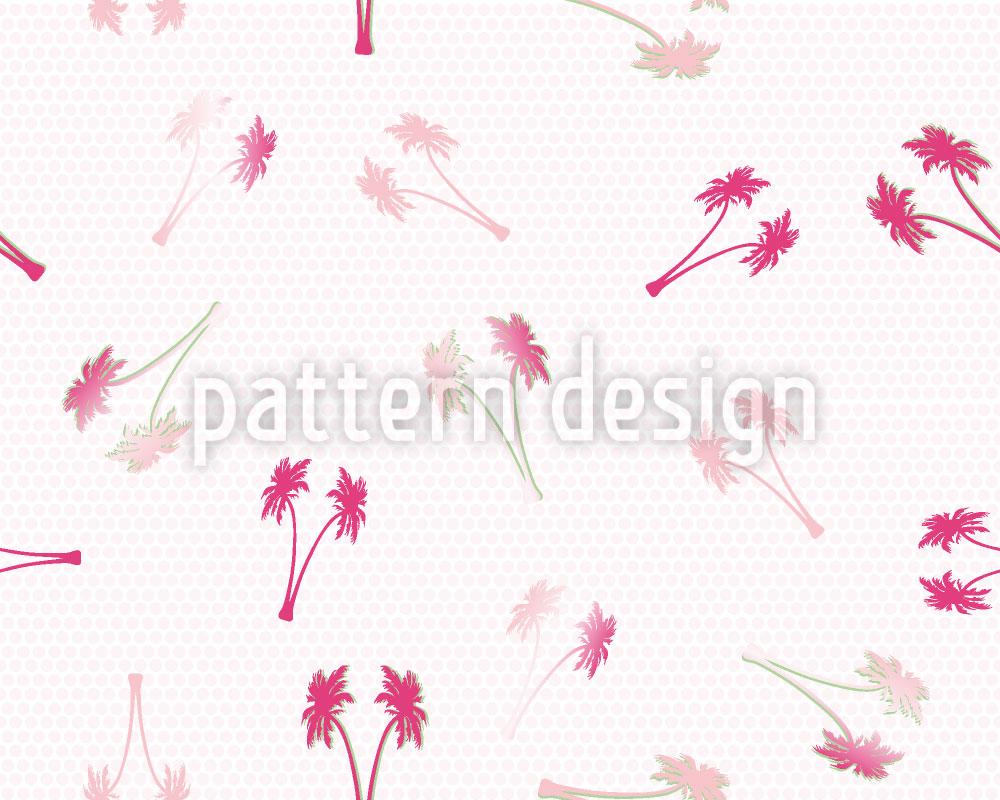 Designtapete Palmen Hochzeit Auf Punkt