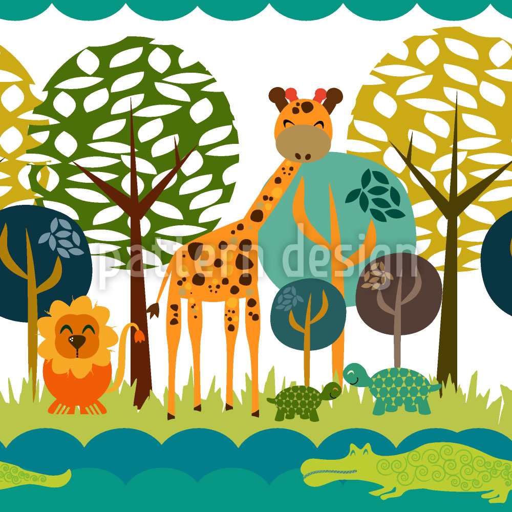 Designtapete African Safari Club