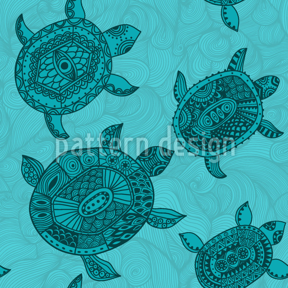 Designtapete Polynesische Meeresschildkröten