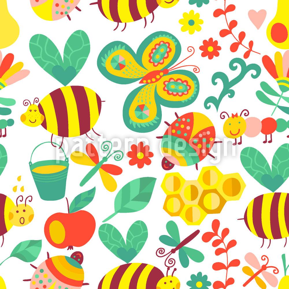 Designtapete Fleissige Honig Bienchen