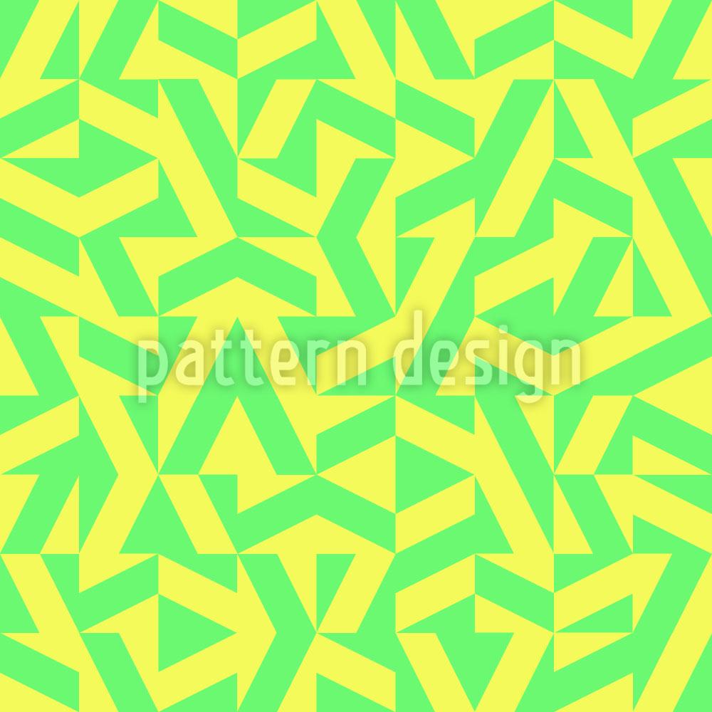 Designtapete Geometrische Limonade