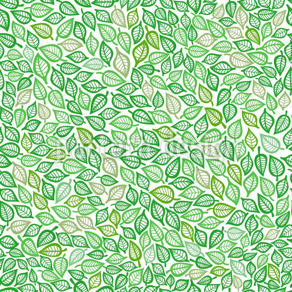 Designtapete Bedeckt Mit Blättern